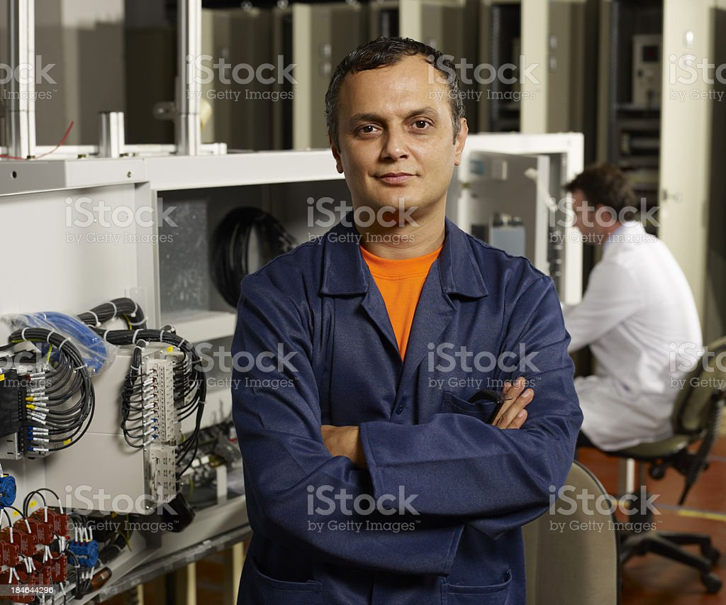 Technician and engineer. royalty-free stock photo