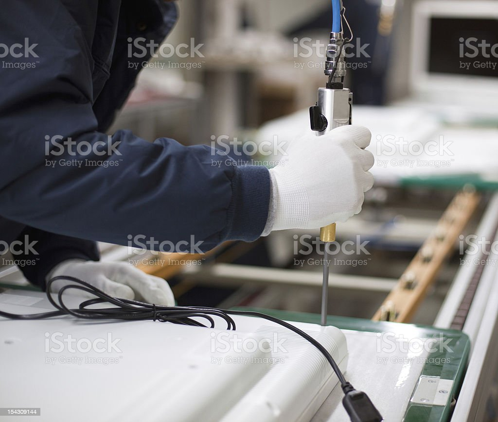 Technician at work stock photo