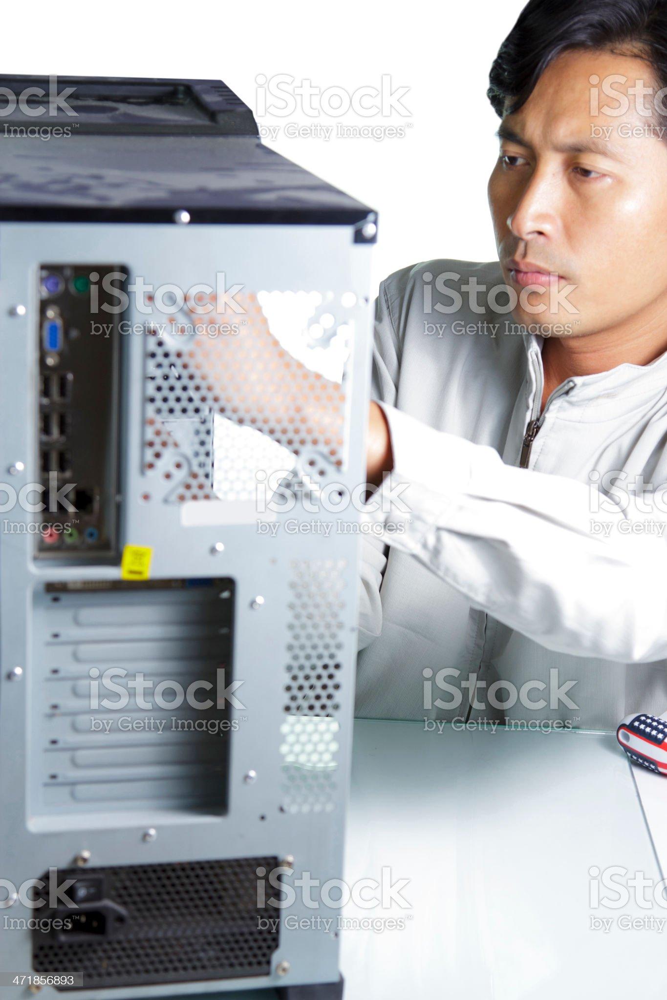 Technician computer royalty-free stock photo