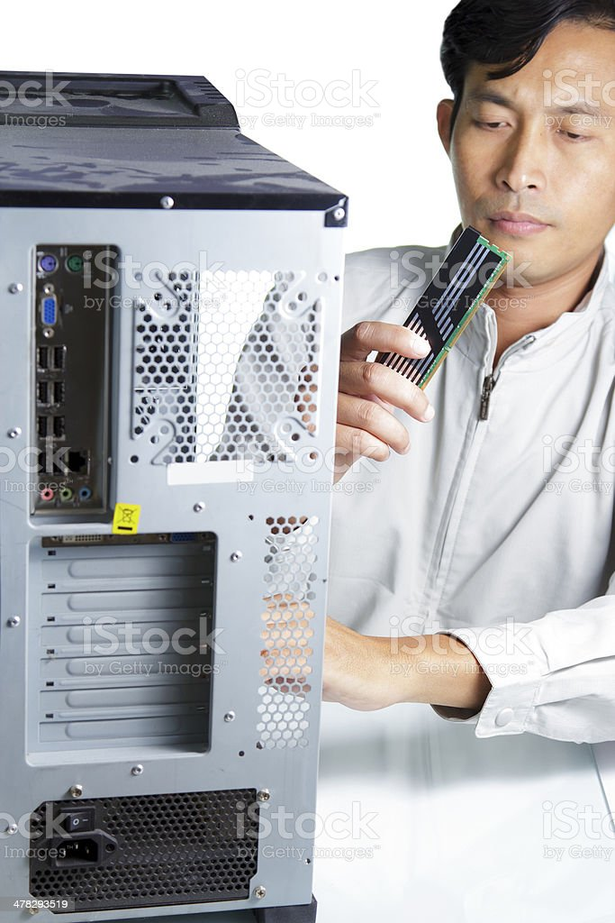 Technician computer royalty-free stock photo
