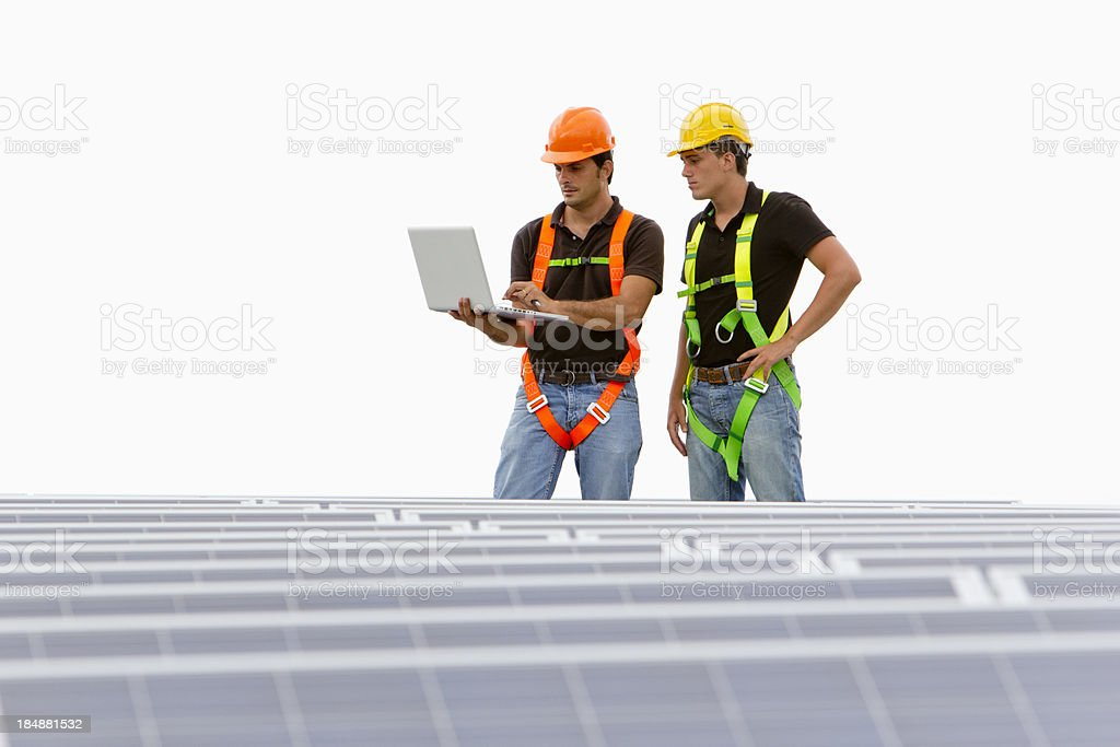 Technician looking at data royalty-free stock photo