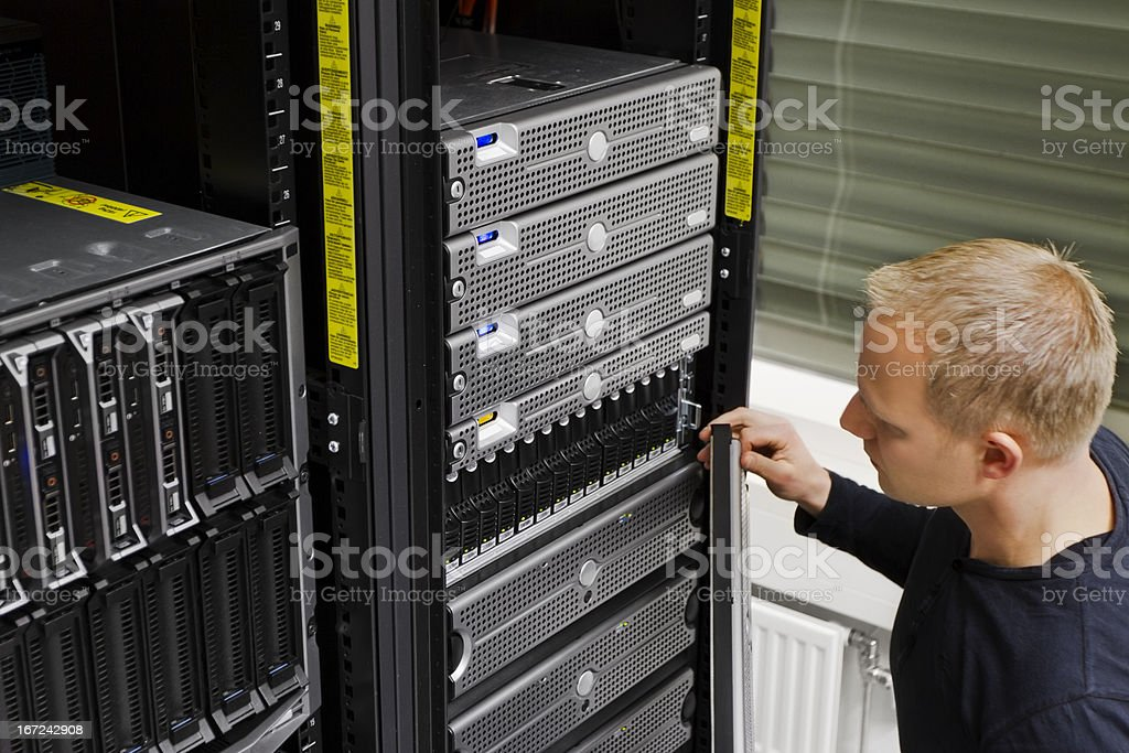 IT Technician Maintain SAN and Servers royalty-free stock photo