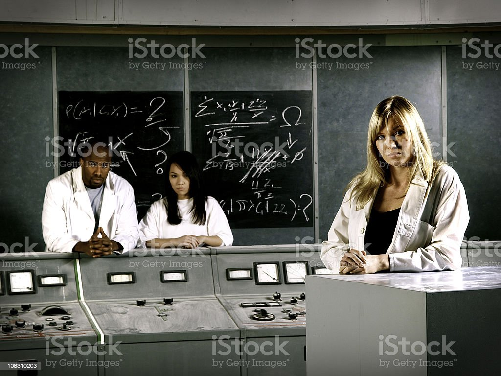 Technicians in lab royalty-free stock photo