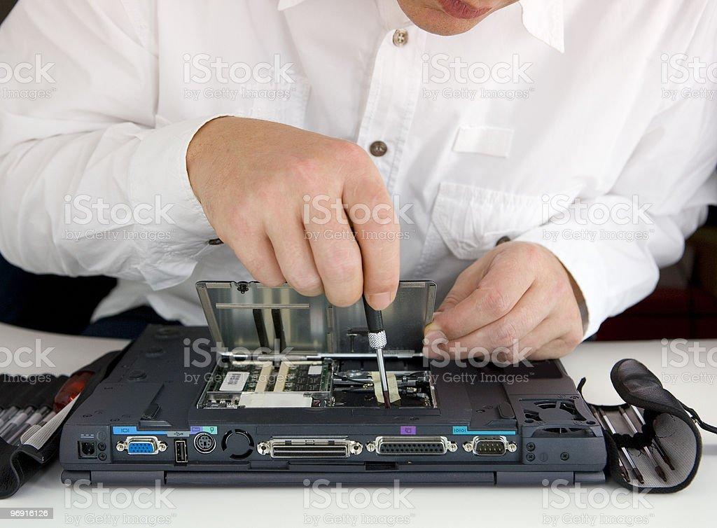 IT technicians royalty-free stock photo