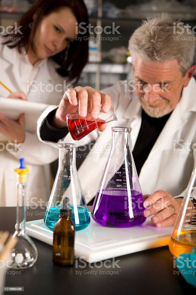 Technicians Working in a Laboratory royalty-free stock photo