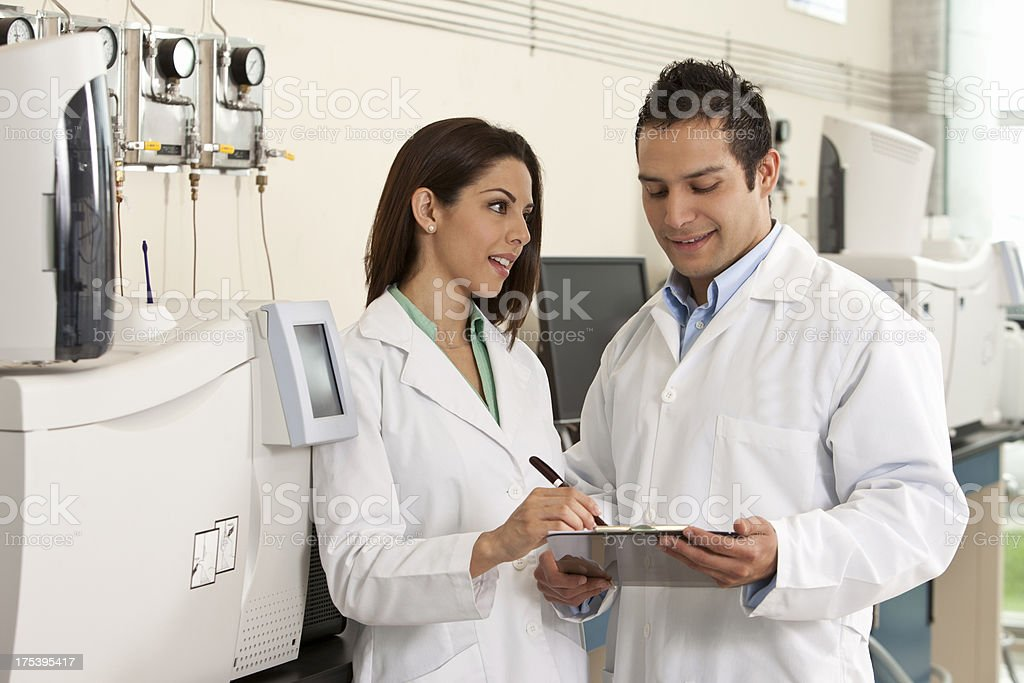 Technicians Working in Laboratory royalty-free stock photo