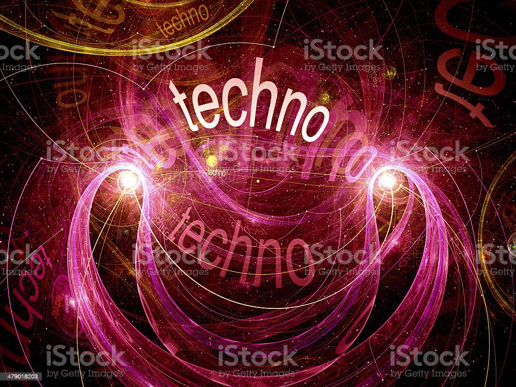 Techno abstract background royalty-free stock photo