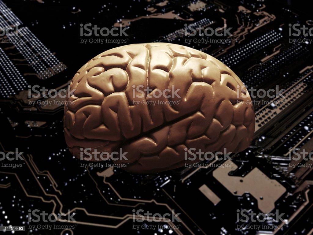 Techno brain royalty-free stock photo