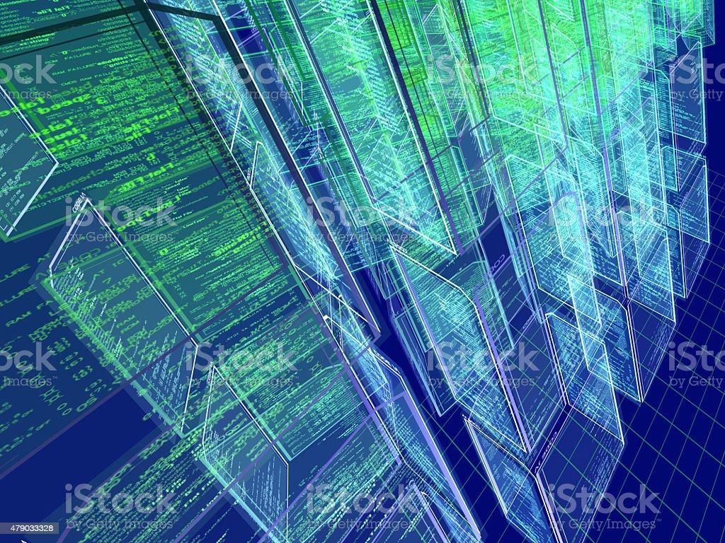 Techno City stock photo