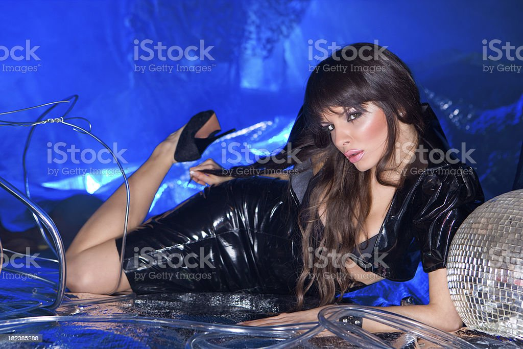 Techno fetish royalty-free stock photo