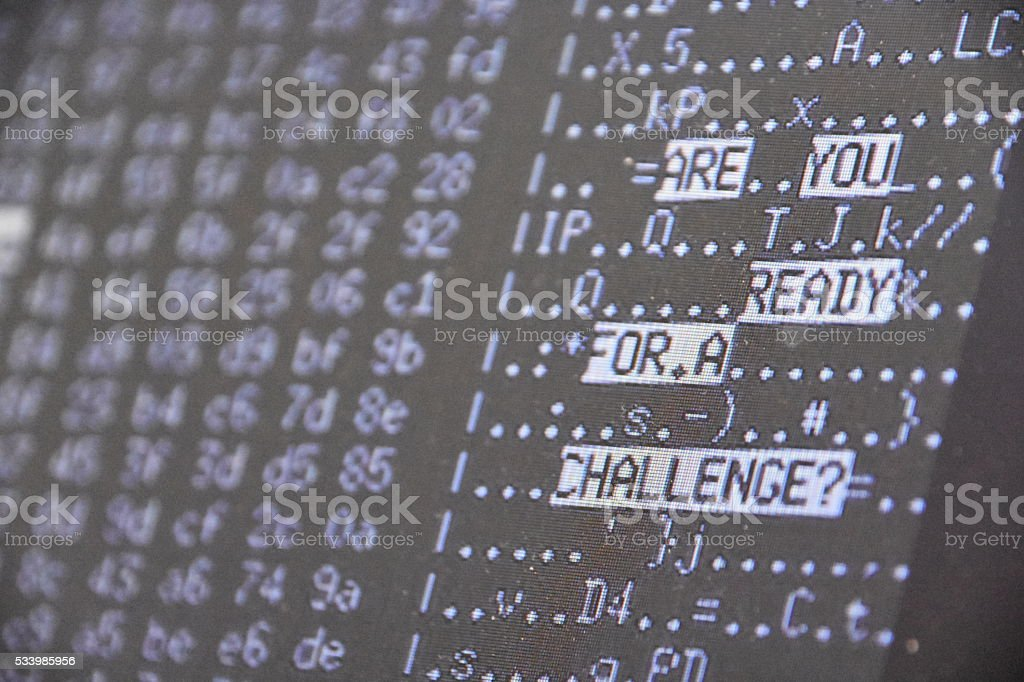 technological challenge Concept stock photo