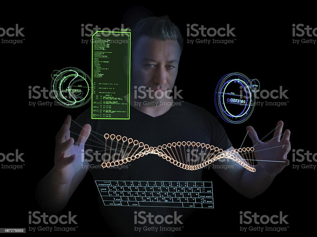 Technological DNA Research royalty-free stock photo