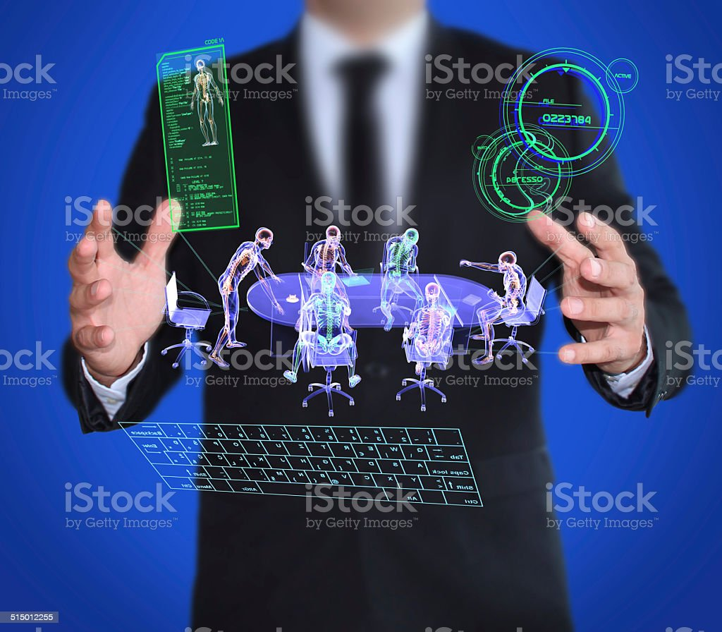 Technological Espionage and Spy stock photo