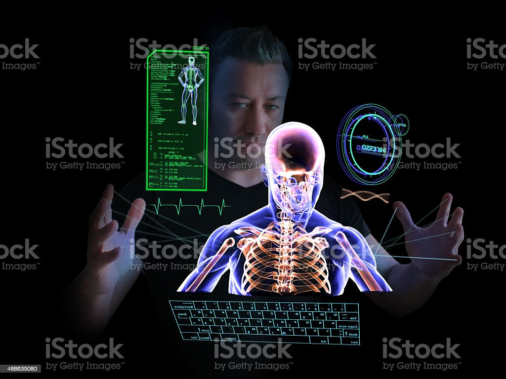 Technological Health Research stock photo