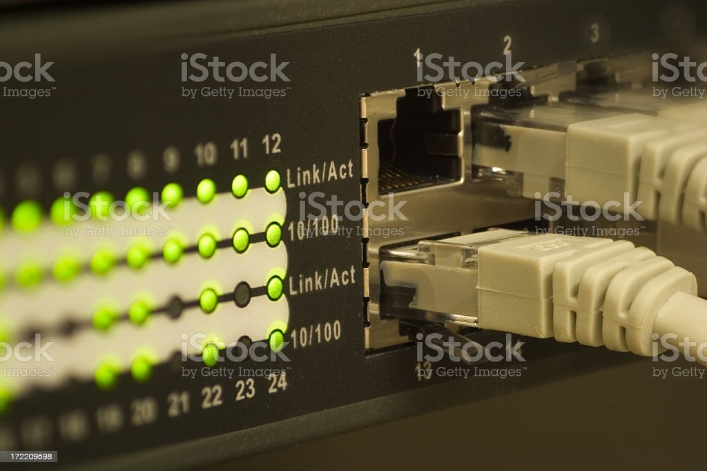 Technological photo of a network setup royalty-free stock photo