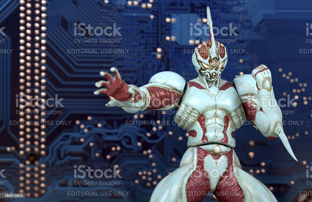 Technological Punch stock photo