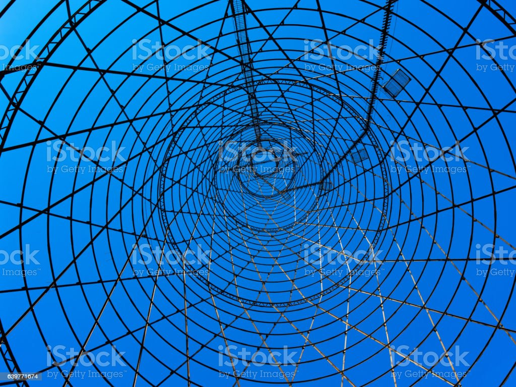 Technological tower stock photo