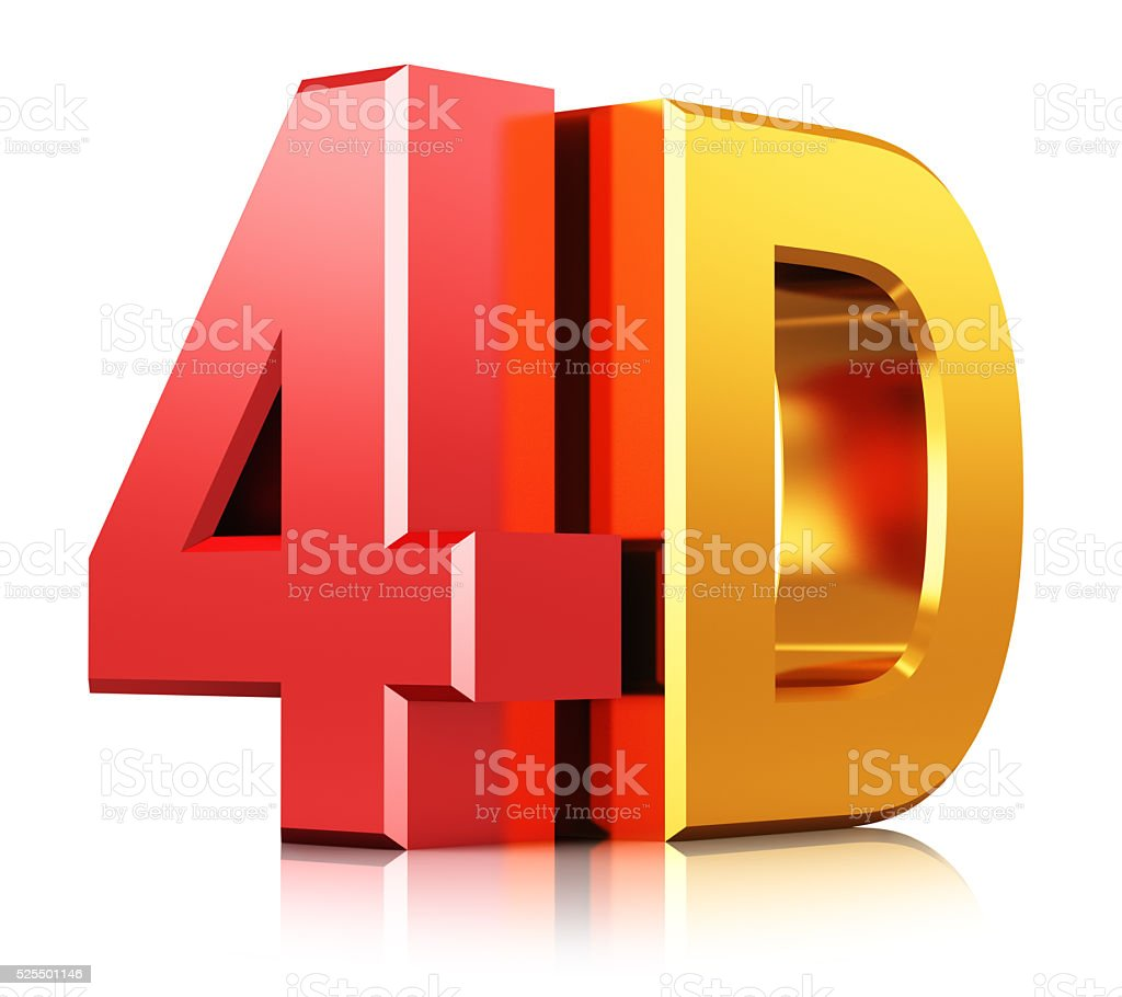 Technology 4D cinema symbol stock photo