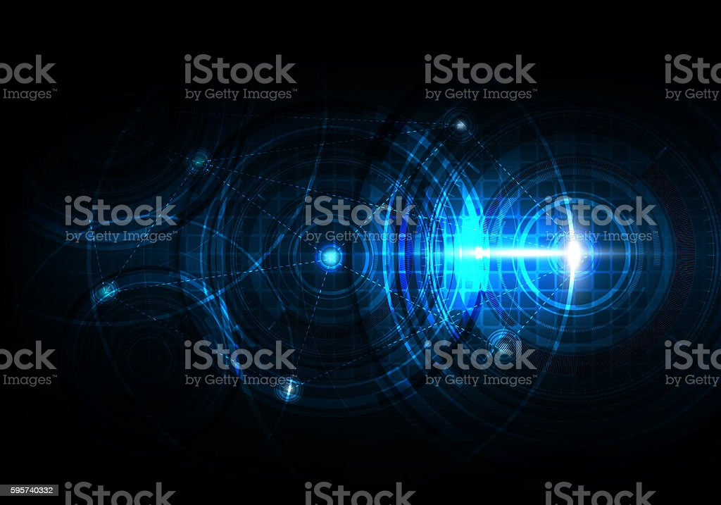 Technology abstract background with futuristic telecoms and network communication stock photo