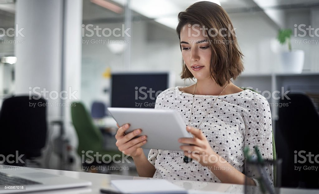 Technology and business go hand-in-hand stock photo