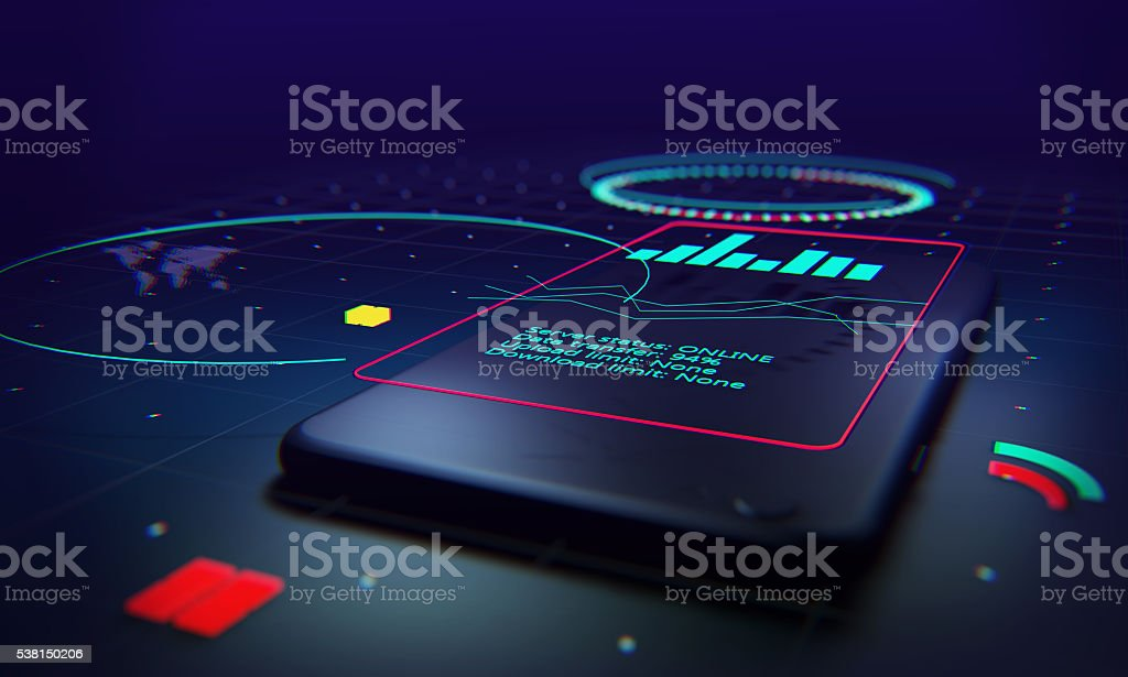 Technology and data stock photo