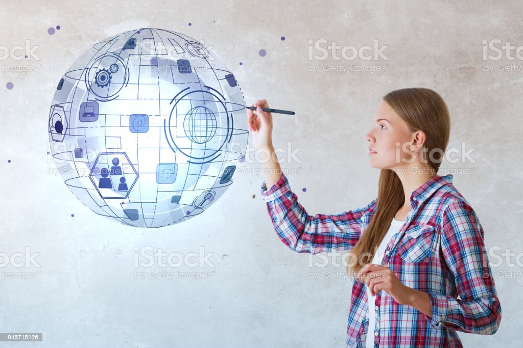 Technology and innovation concept stock photo
