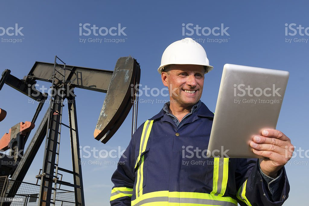 Technology and Oil royalty-free stock photo
