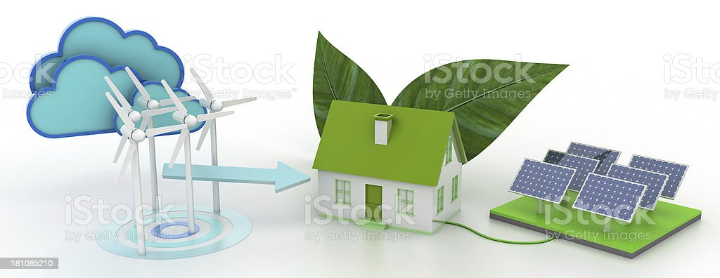 Technology and Renewable Energy royalty-free stock photo