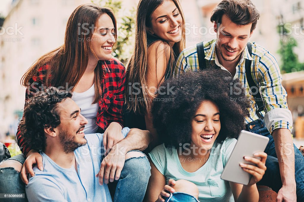 Technology and sharing stock photo