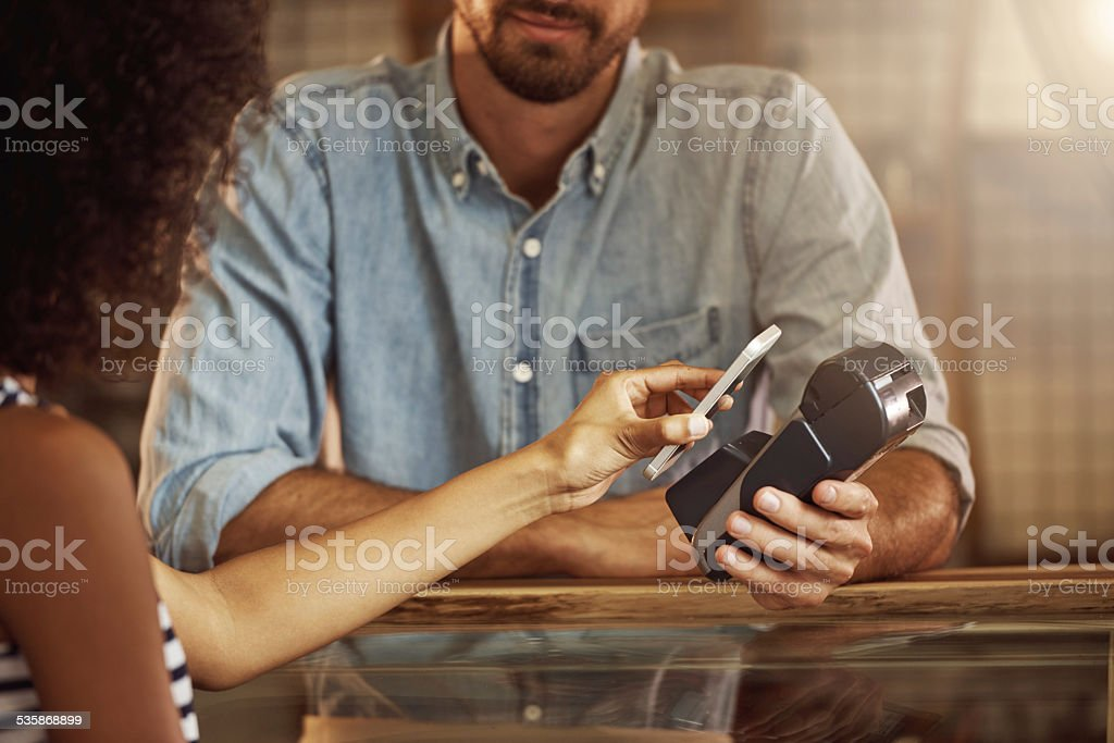NFC technology applications! stock photo