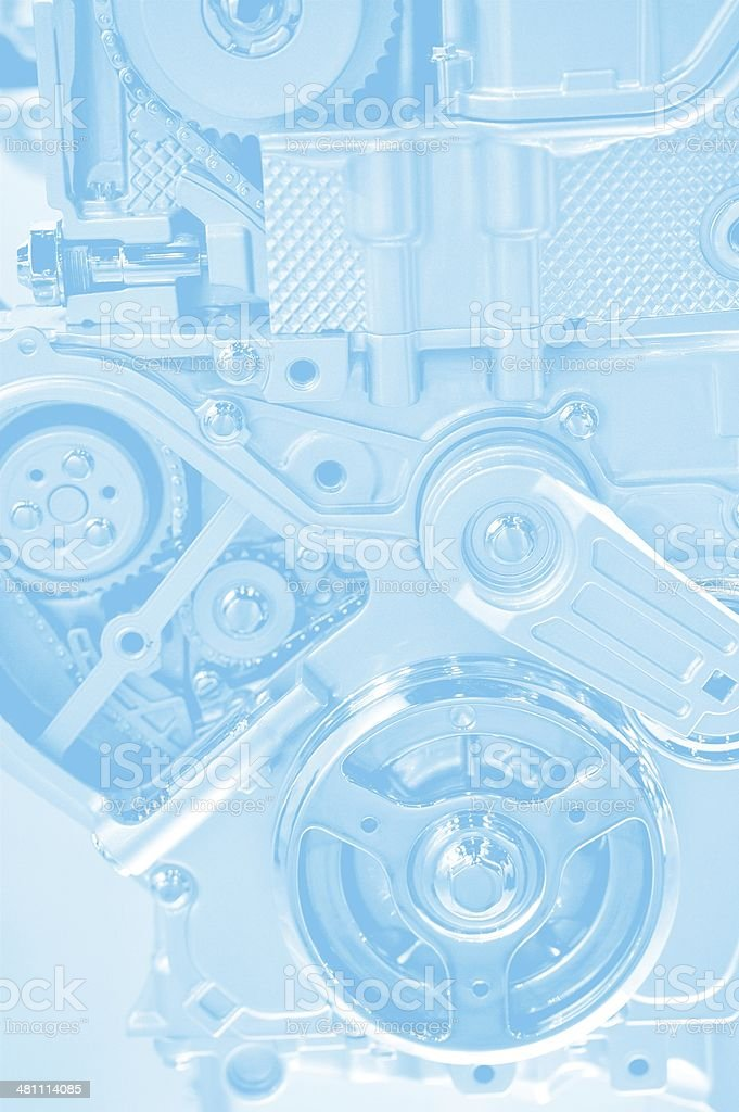 Technology Blue Background stock photo