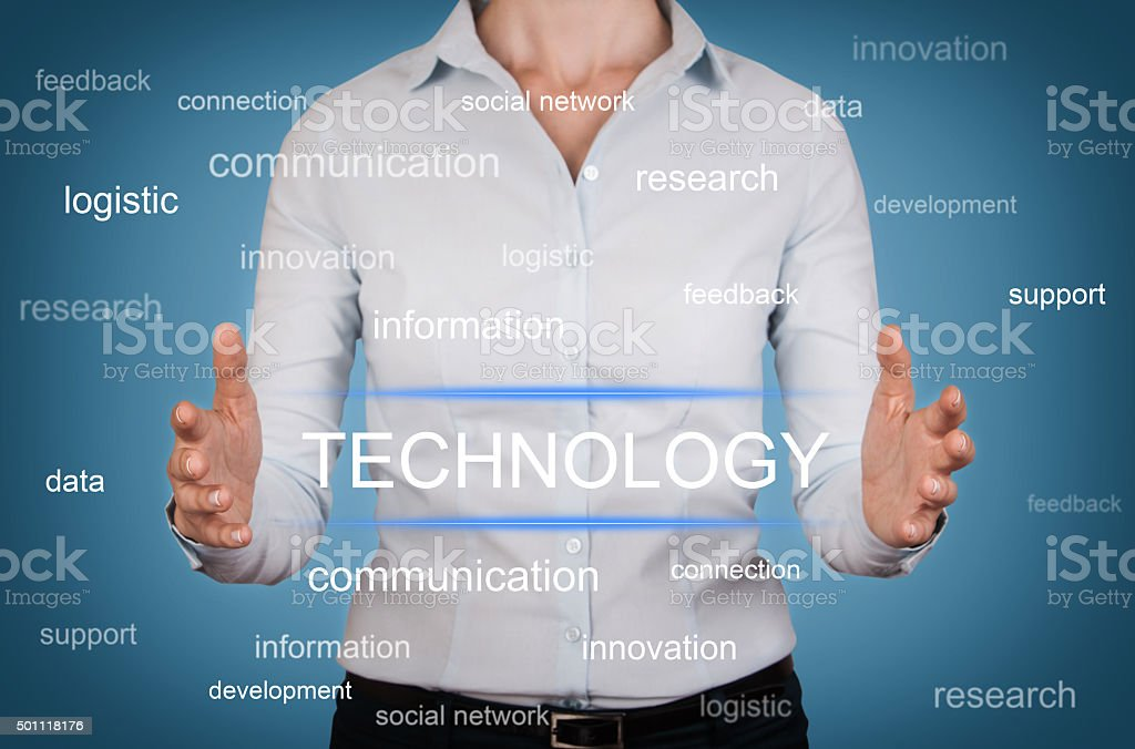 Technology Concept on Screen stock photo