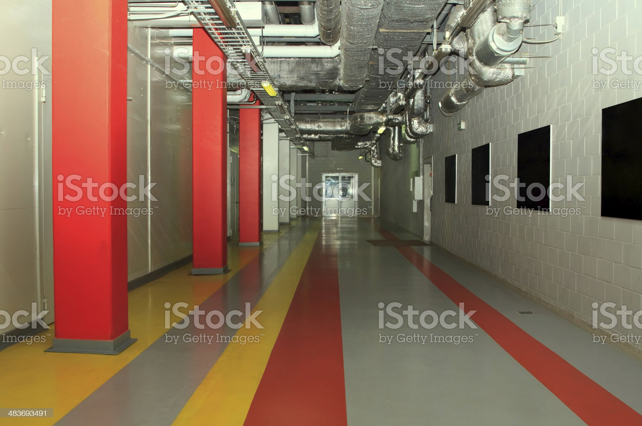 Technology corridor at the factory royalty-free stock photo