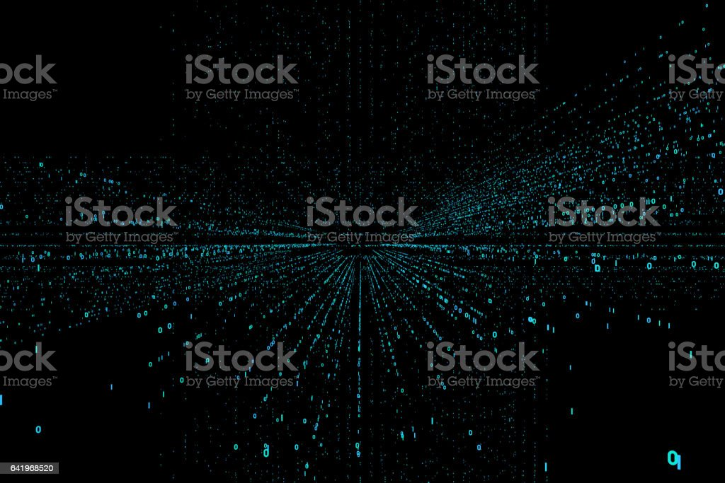 Technology digital information, future technology, digital array stock photo