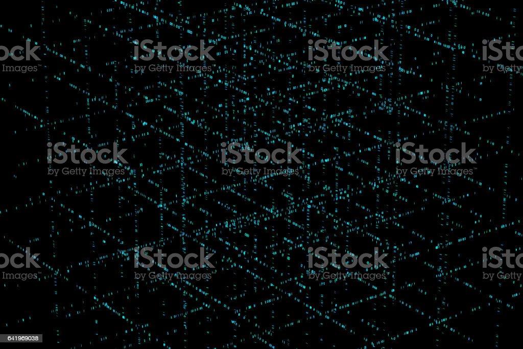 Technology digital information, future technology, digital array stock photo