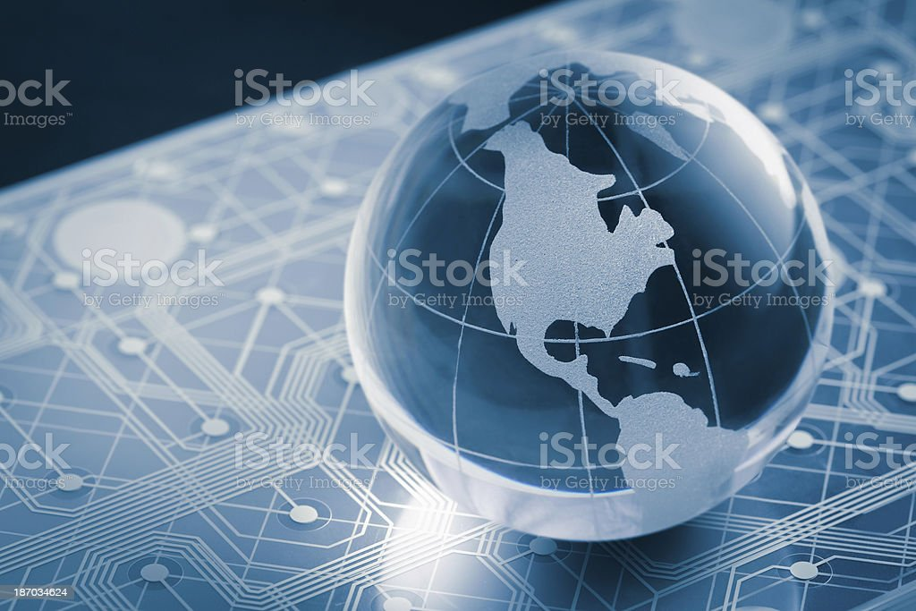 technology earth globe stock photo