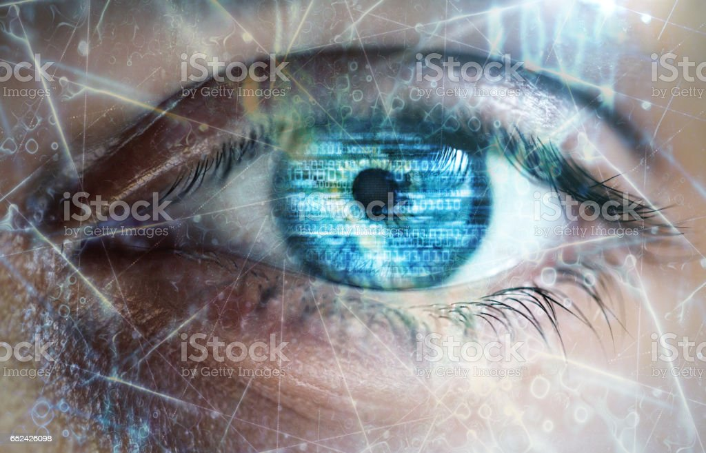 Technology eyes vector art illustration