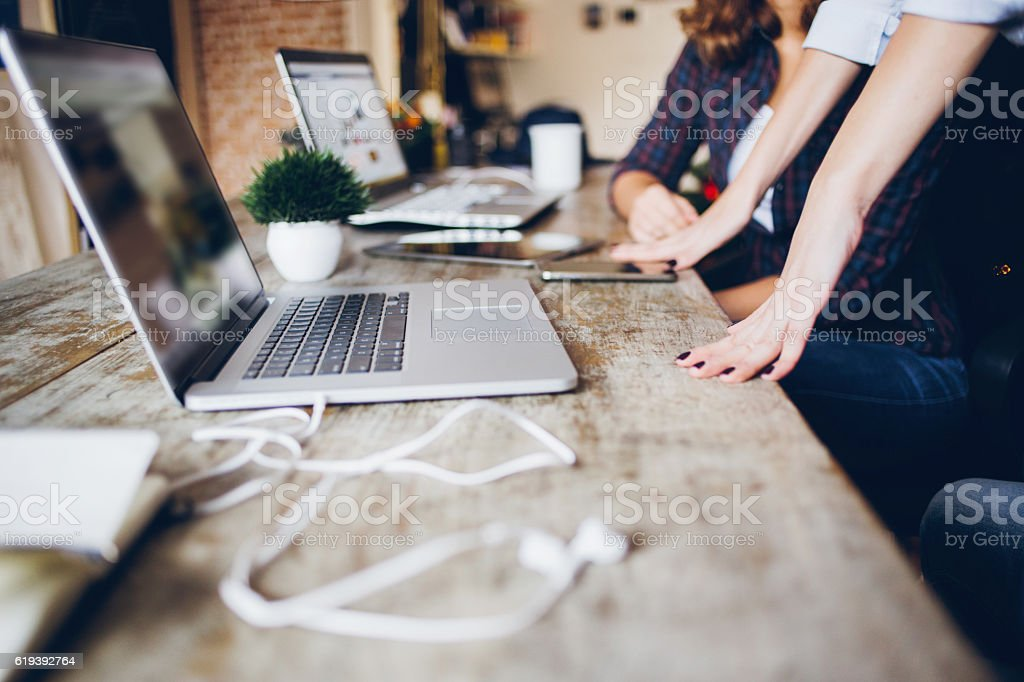 Technology gadgets and accessories stock photo