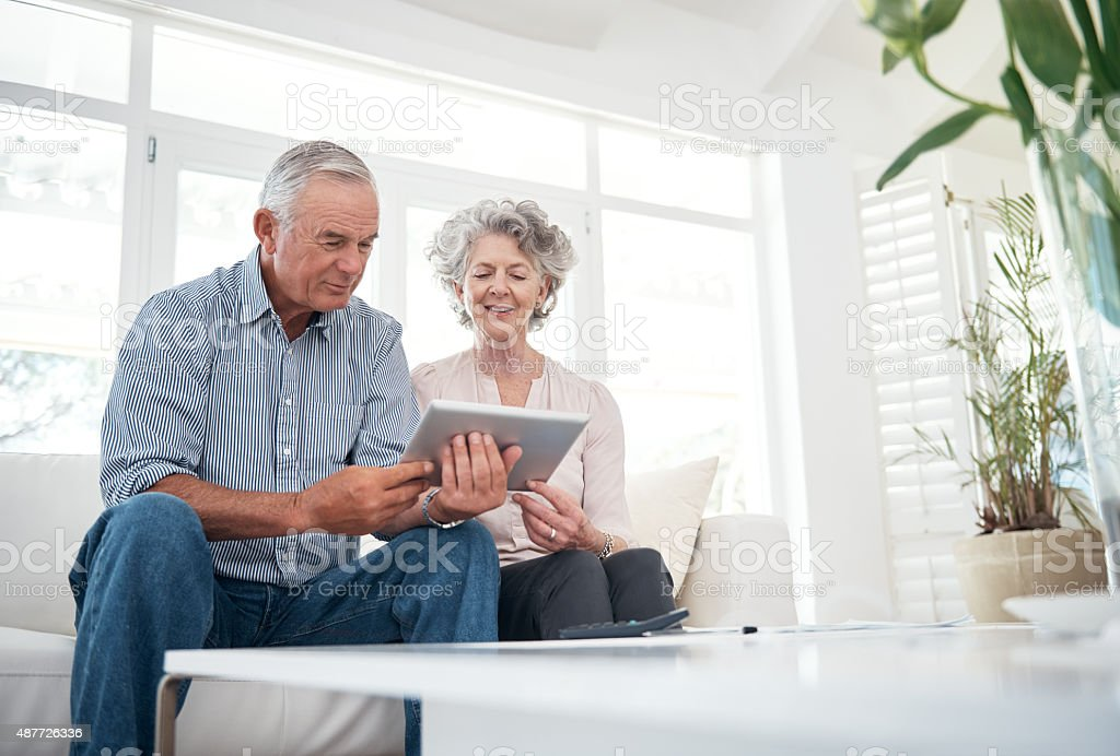 Technology has made their lives easier in so many ways stock photo