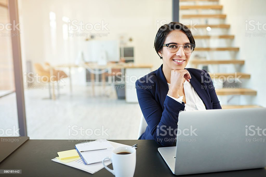 Technology helps me visualise my plans stock photo