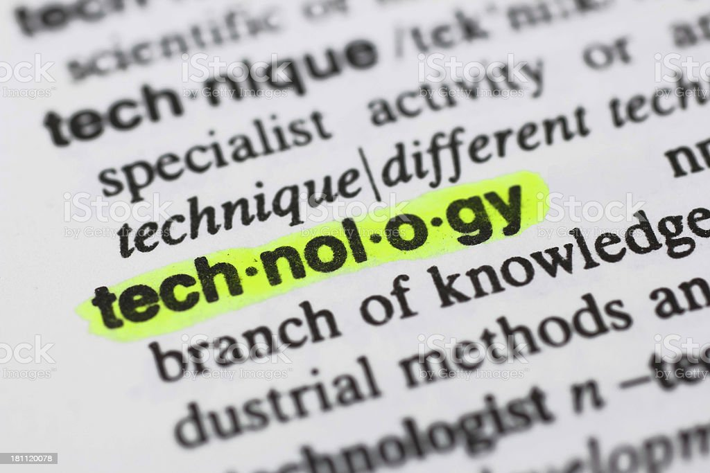 Technology highlighted defined stock photo