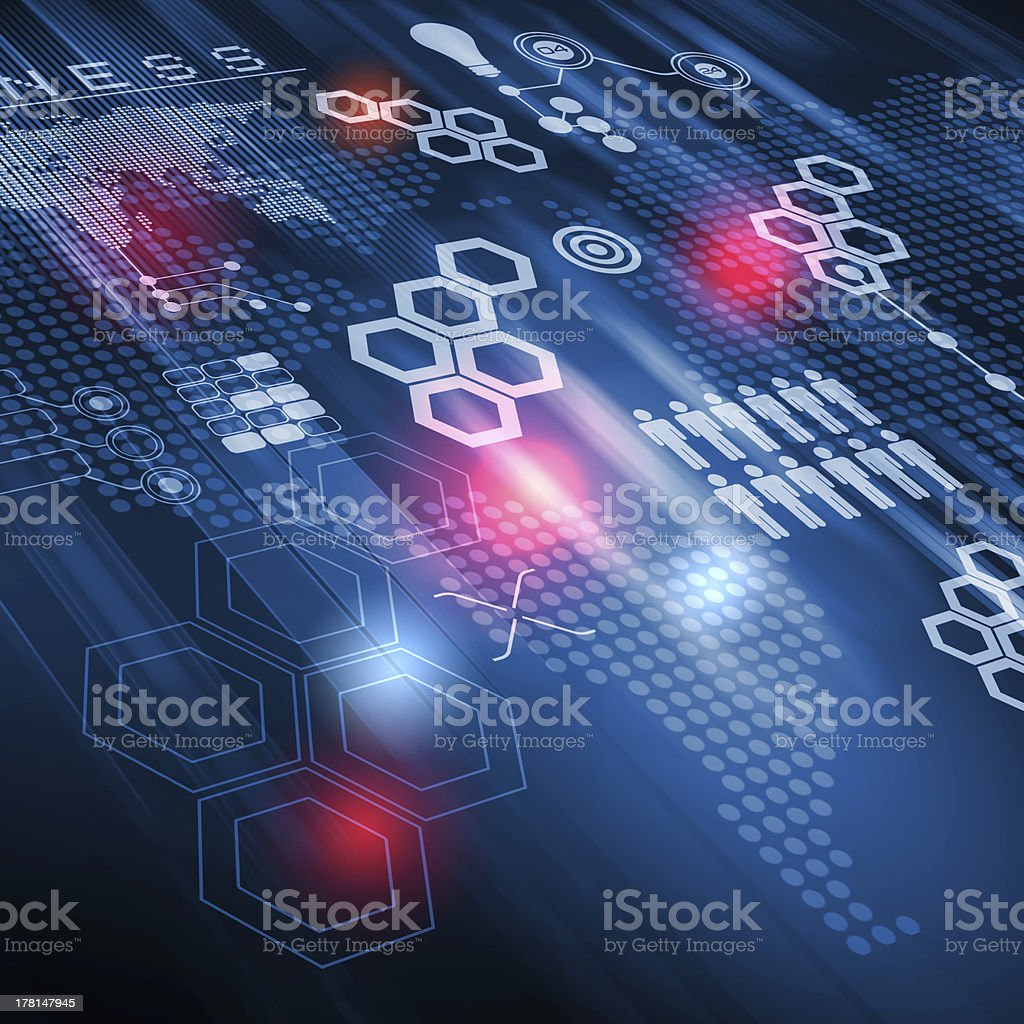 Technology illustration stock photo