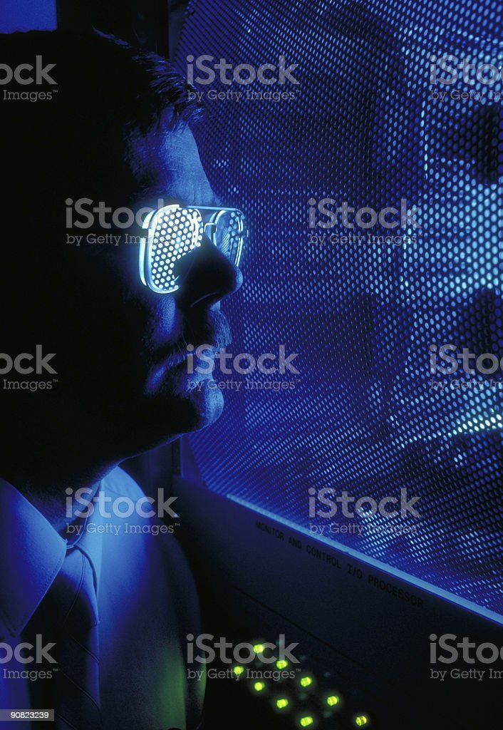 technology illustrative - man and machine royalty-free stock photo