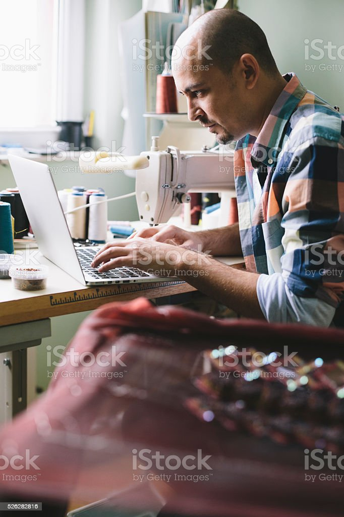 Technology in fashion stock photo