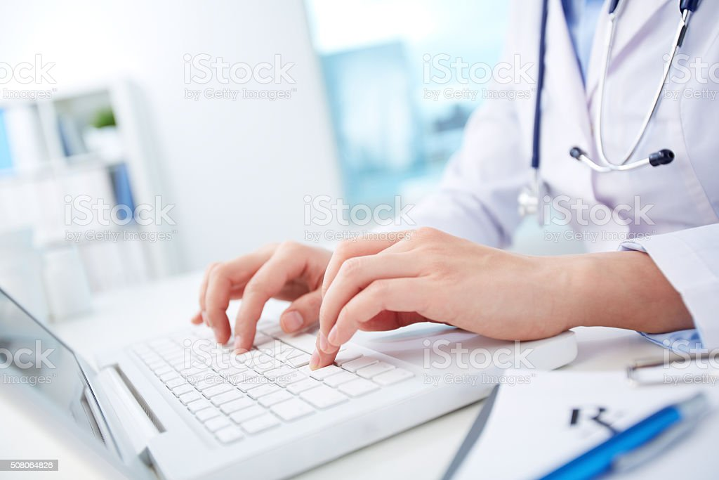Technology in medicine stock photo