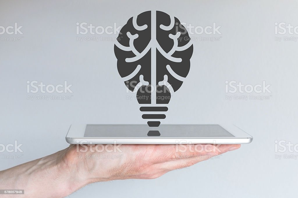 Technology innovation concept in mobile computing and digital technology stock photo