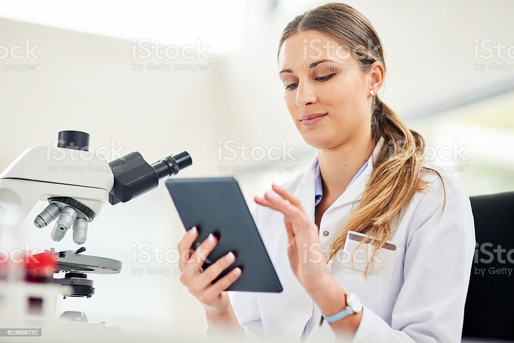 Technology is a vital tool for every researcher stock photo