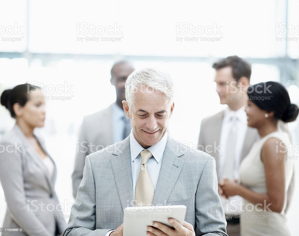 Technology is an integral part of business these days royalty-free stock photo