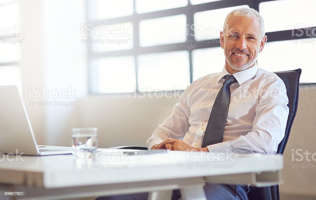 Technology keeps me connected to my competitors stock photo