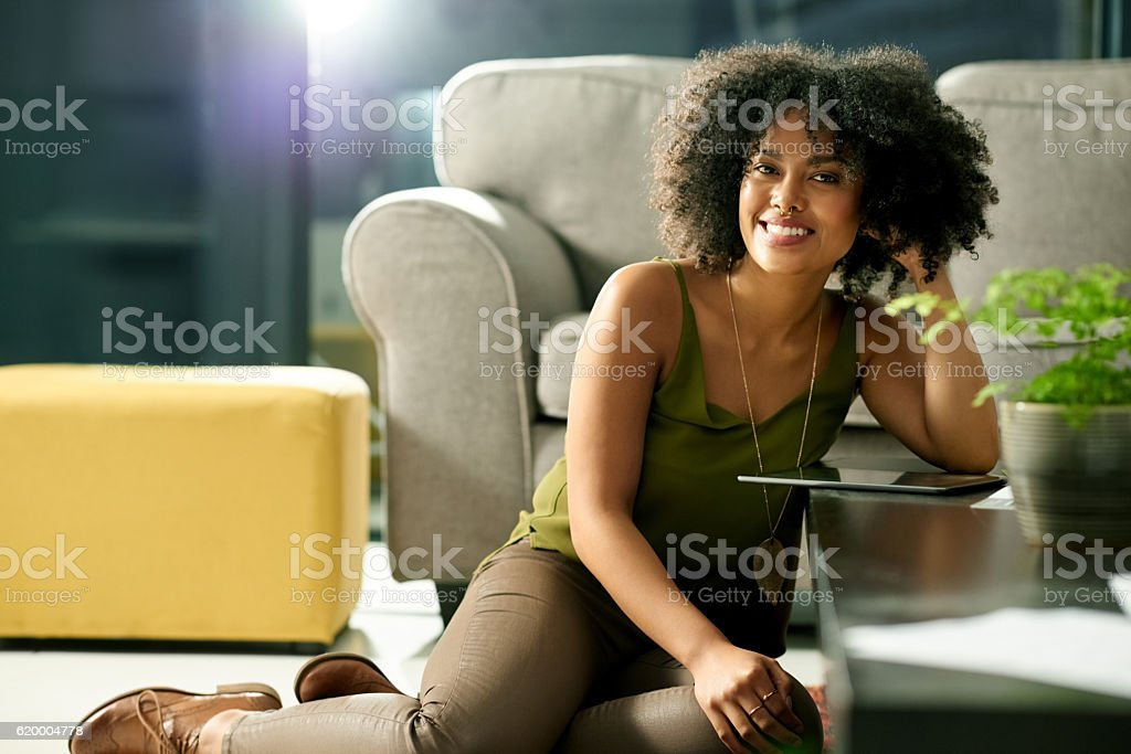 Technology keeps me in the know and the now stock photo
